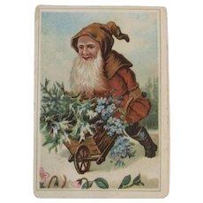 Victorian Belsnickle Santa Claus Trade Card for Philadelphia Men's Store Christmas Advertising