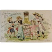 1892 Ladies Perfumed Calendar Hoyt's German Cologne and Rubifoam for the Teeth Victorian Advertising Trade Card