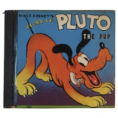1938 Walt Disney's Story of Pluto the Pup Book Whitman and Walt Disney Enterprises