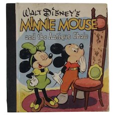 1948 Walt Disney's Minnie Mouse and the Antique Chair Book Whitman and Walt Disney Productions
