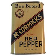 Early Bee Brand McCormick Pure Red Cayenne Pepper Spice Tin