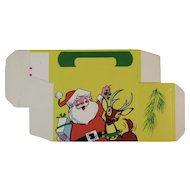 Christmas Candy Box Santa and Reindeer Made in USA Container Unused Santa's Deer