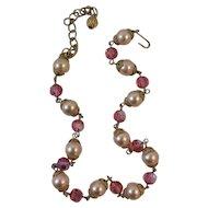 Pretty Pink Choker Necklace