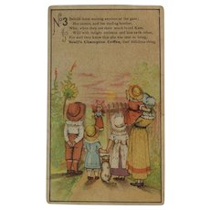 Scull's Champion Coffee No 3 Victorian Advertising Trade Card with Poetry