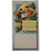 1887 Calendar Trade Card for the Hatfield PA Mirror Newspaper