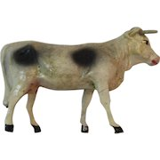 German Putz Stick Leg Cow Composition Nativity Animal for Christmas Display Stick Legged Germany