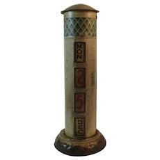 Lyons Toffees Tin Litho Perpetual Calendar Lighthouse Shaped Tin