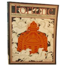 Fortune Magazine September 1933 with Cover Art by Antonio Petruccelli
