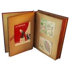 Convalescent Scrapbook circa 1940s Scrap Book