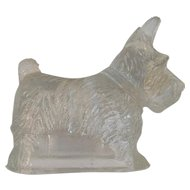 Scottie Dog Glass Candy Container