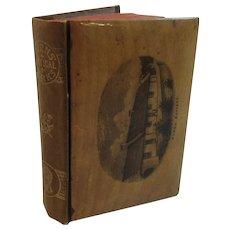 1886 Victorian Scottish Mauchline Ware Poetical Works of Robert Burns Miniature Book