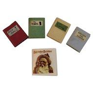 5 Dollhouse Miniature Books Night Before Christmas