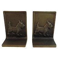 Bradley and Hubbard Scottie Dog Cast Iron Bookends Scottish Terrier Book Ends Cast Iron B&H B & H