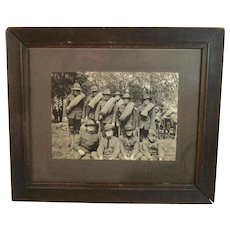 World War 1 British and American Troops Photograph