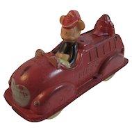 Walt Disney Mickey Mouse Fire Truck Rubber Toy