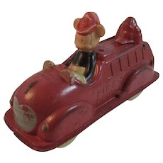 Walt Disney Mickey Mouse Fire Truck Rubber Toy