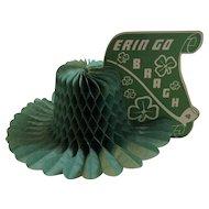 St. Patrick's Day Honeycomb Erin Go Bragh Decoration Centerpiece Hat Shaped