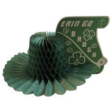St. Patrick's Day Honeycomb Erin Go Bragh Decoration Centerpiece Hat Shaped