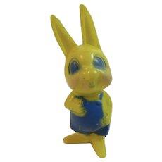 Corwin Plastics Easter Bunny Boy in Blue Vintage Toy Rabbit