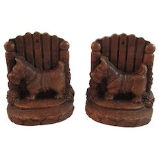 Scottie Dog Bookends Book Ends Syroco Wood