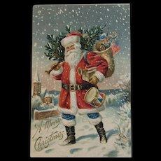 1906 P Sander Embossed Santa Postcard Unused with Undivided Back