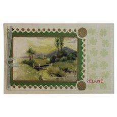 German Ireland Booklet Style Postcard for St. Patrick's Day Gottschalk Dreyfuss and Davis Unused Germany Irish