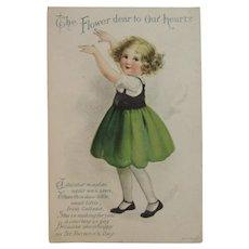 Clapsaddle St. Patrick's Day Postcard Wolf & Co Irish Colleen