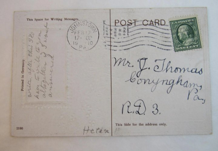 1910 German St  Patrick's Day Embossed Postcard with Music and Song Lyrics  for Erin Our Dear Native Land Ireland Irish
