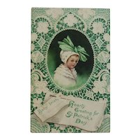 Signed Clapsaddle Baby Irish St. Patrick's Day Postcard International Art Publishing Co IAP