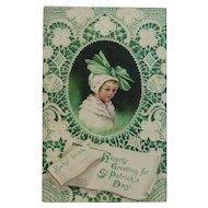 Signed Clapsaddle Baby Irish St. Patrick's Day Postcard International Art Publishing Co IAP