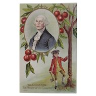 1908 Taggart George Washington Chopping down the Cherry Tree Postcard Unused Embossed