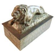 Metal Lion Box