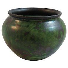 Nittsjo Green Pottery Bowl Sweden Swedish