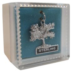 Kapok Tree Sterling Silver Charm in Original Box
