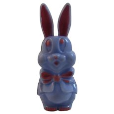 Purple Easter Bunny Rattle Hard Plastic Rabbit