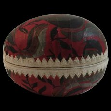 German Art Deco Easter Egg Candy Container Papier Paper Mache Germany