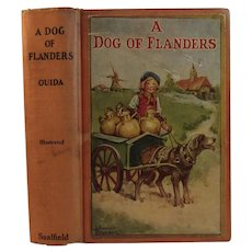 1927 Frances Brundage Illustrated Book A Dog of Flanders The Nurnberg Stove and The King of the Golden River Stories