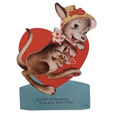 Ameri-Card Kangaroo and Heart Mechanical Valentine