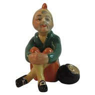 Irish Leprechaun with Pot of Gold MZ Porcelain Vintage Figurine