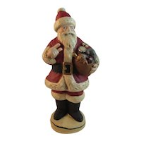 Walnut Ridge Collectibles Chalkware Santa Signed by Kathi Lorance Bejma Hand Crafted Old World
