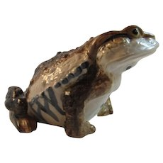 Large Art Pottery Frog Figurine by Wony Ltd of Japan Bullfrog