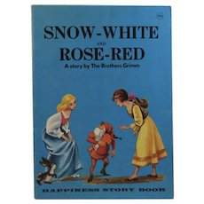 1968 Snow White and Rose Red Childrens Book Illustrated by Castellani Story by the Brothers Grimm