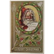 1908 Santa Embossed Postcard Julius Bien