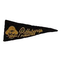 1950s MLB Mini Felt Pennant American Nut & Chocolate Co Premium Pittsburgh Pirates Baseball Team
