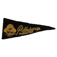 1950s MLB Mini Felt Pennant American Nut & Chocolate Co Premium Pittsburgh Pirates Baseball Team