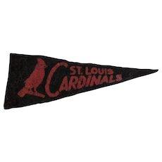 1950s MLB Mini Felt Pennant American Nut & Chocolate Co Premium St. Louis Cardinals Baseball Team - Red Tag Sale Item