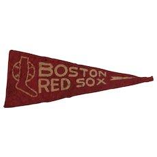 1950s MLB Mini Felt Pennant American Nut & Chocolate Co Premium Boston Red Sox Baseball Team