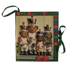 The Teddy Bears' Christmas Miniature Pop Up Book Ornament Armand Eisen and Ariel Books Popup Pop-up