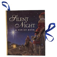 Silent Night Miniature Pop Up Book Ornament Armand Eisen and Ariel Books Popup Pop-Up Christmas Carol