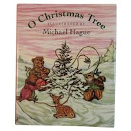 O Christmas Tree Miniature Book Illustrated by Michael Hague with Bears
